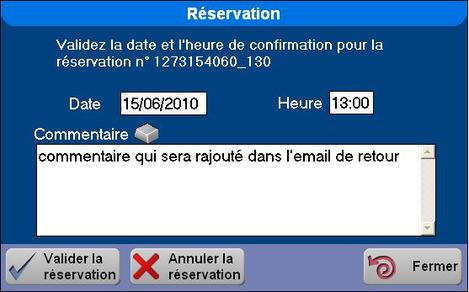 La réservation dans le logiciel de restaurant Orchestra