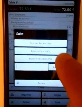 logiciel de restaurant sur mobile Android