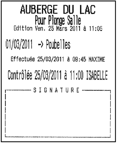 Ticket à signer