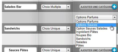 Logiciel de restaurant Clyo Systems: choix d'option pour chaque étape