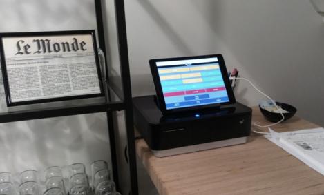 La caisse tactile iPad de Melkal