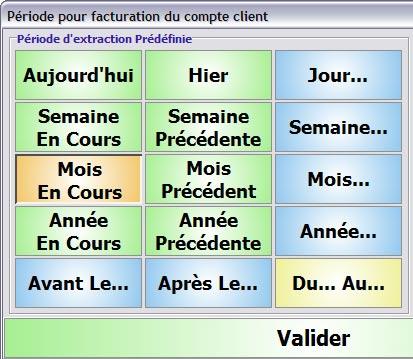 aliris: facturation d'un client en compte