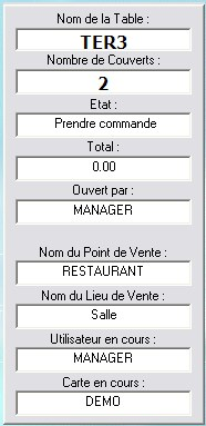 Billpro 7 : informations d'une table