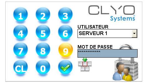 Clyo Restaurant: identification du serveur