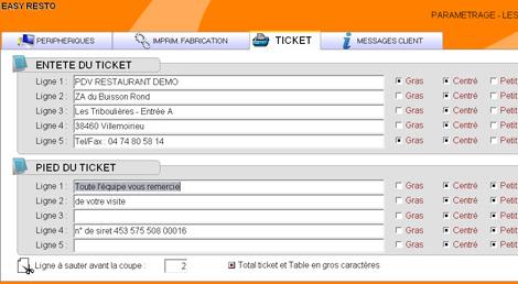 Personnalisation du ticket de caisse avec Easy Resto *