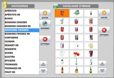 Catalogue d'images à utiliser sur la borne de commande
