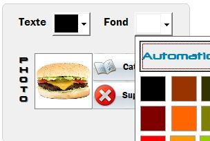Photo du hamburger sur l'écran de caisse