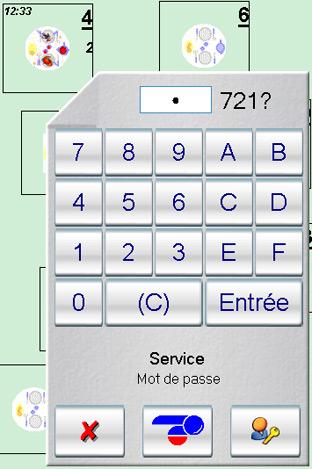 Saisie du mot de passe d'un serveur