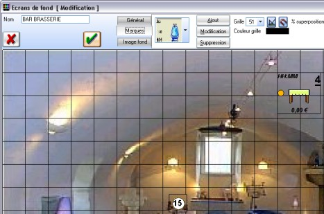 Euresto: paramétrage du plan de salle