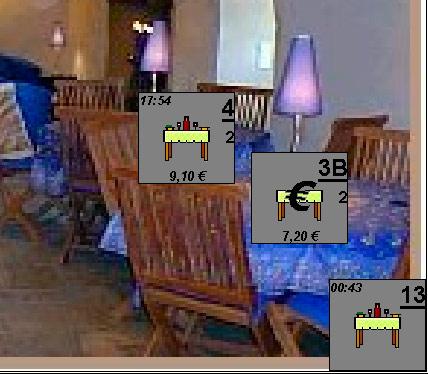 Une table restant à encaisse dans Euresto *