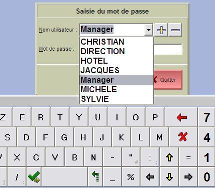 saisie du mot de passe du serveur dans FirstClass