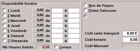 Logiciel de caisse pour restaurant logiclass: fiche salarié