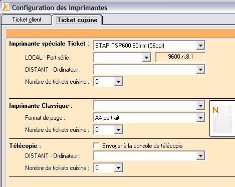 Configuration des imprimantes dans Nestor
