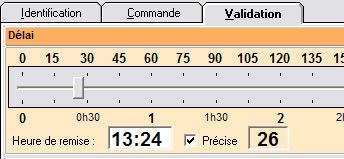 Paramétrage de l'heure de remise d'une commande à emporter avec Nestor