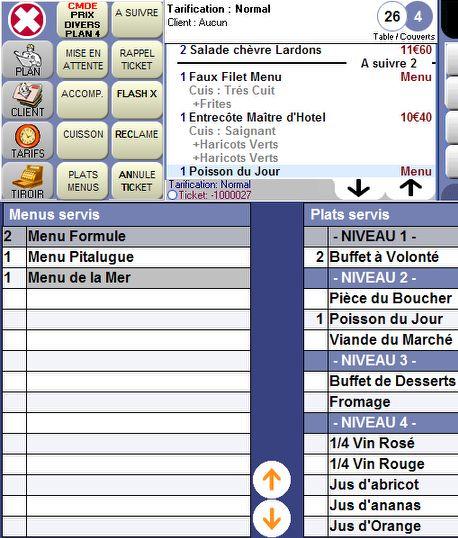 Orchestra restaurant: les menus et plats servis