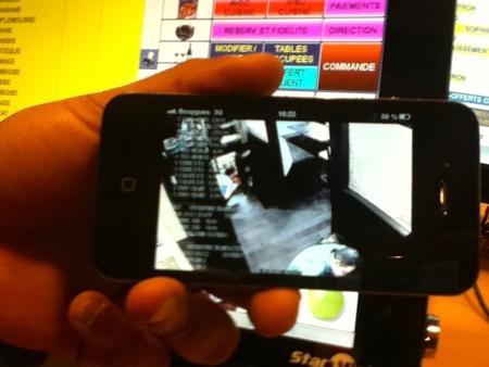 Vidéosurveillance avec actions de caisse sur mobile iPhone!