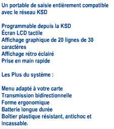 Présentation de la télécommande KSD Orderman